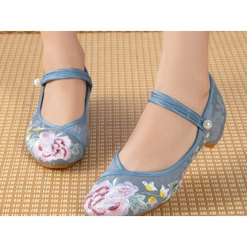 Chinese Style Women's Cloth Shoes Blue