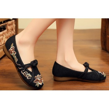 Chinese Style Women's Cloth Shoes Black