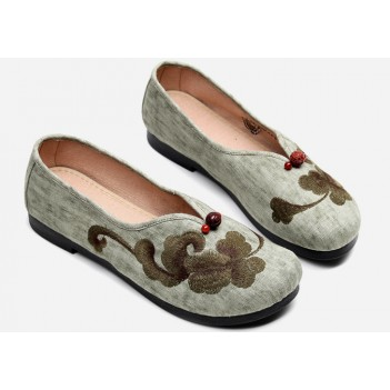 Chinese Style Women's Cloth Shoes Green
