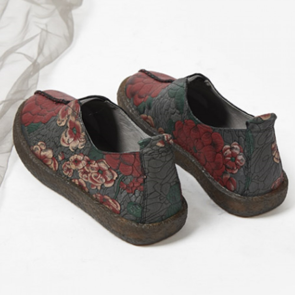 Chinese Style Women's Cloth Shoes Grey