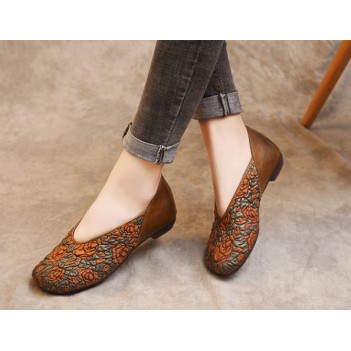 Chinese Style Women's Cloth Shoes Brown