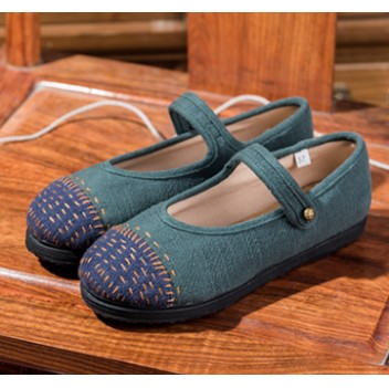 Chinese Style Women's Shoes Green