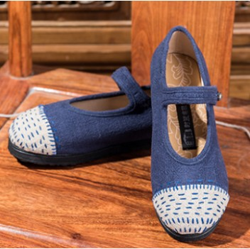 Chinese Style Women's Shoes Blue