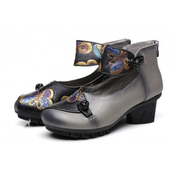 Chinese Style Women's Shoes Grey