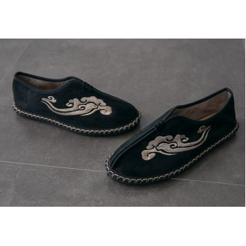 Chinese Style Men's Cloth Shoes Black