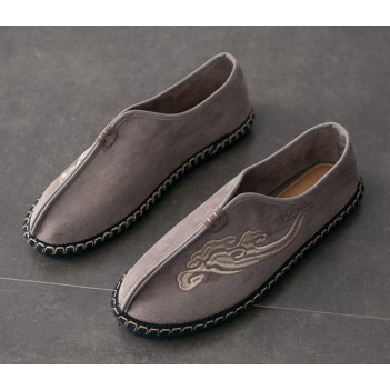 Chinese Style Men's Cloth Shoes Brown
