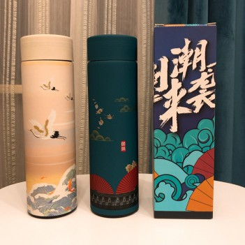 Chinese Classical Thermos Mug|Stainless steel large capacity vacuum flask(450ml)