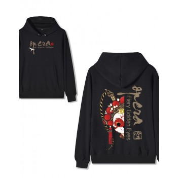Chinese Style Forbidden City Joint Peking Opera Hoodie Sun Wukong Black