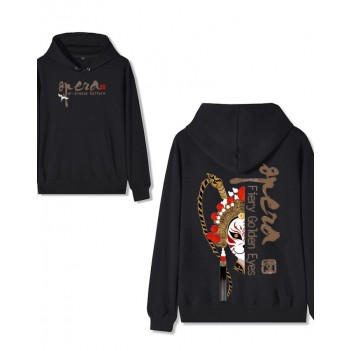 Chinese Style Forbidden City Joint Peking Opera Hoodie Supreme Black