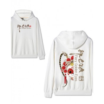 Chinese style Forbidden City co-branded Peking Opera Hoodie Sun Wukong White
