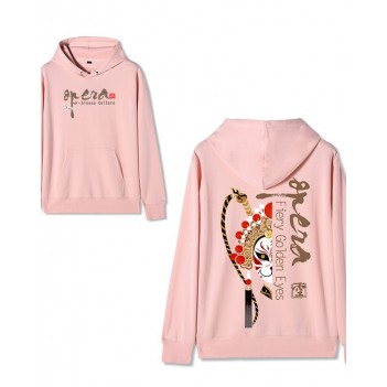Chinese style Forbidden City co-branded Peking Opera Hoodie Supreme Pink