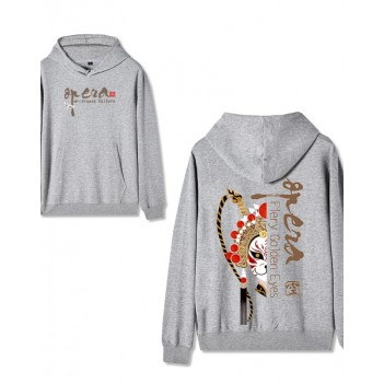 Chinese style Forbidden City co-branded Peking Opera Hoodie Supreme Treasure Grey