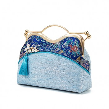 Chinese style handmade bag | tassel bag | handbag | shoulder messenger bag | Hanfu fabric bag