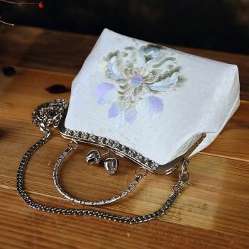 Embroidery bag cheongsam bag mouth gold bag mother handbag shoulder portable messenger bag women