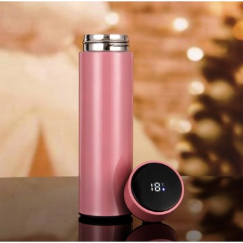 500ml Vacuum Thermos LED Temperature Display Water Bottle Stainless Steel Double Wall Insulated Cup Intelligent Travel Thermos Cup Coffee Mugs
