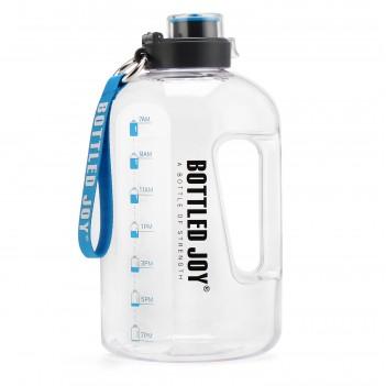 BOTTLED JOY 2.5L Water Bottle  Large Water Bottle  Hydration with Motivational Time Marker Reminder Leak-Proof Drinking