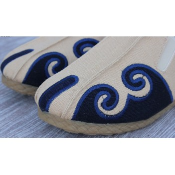Chinese Style Men's Cloth Shoes White